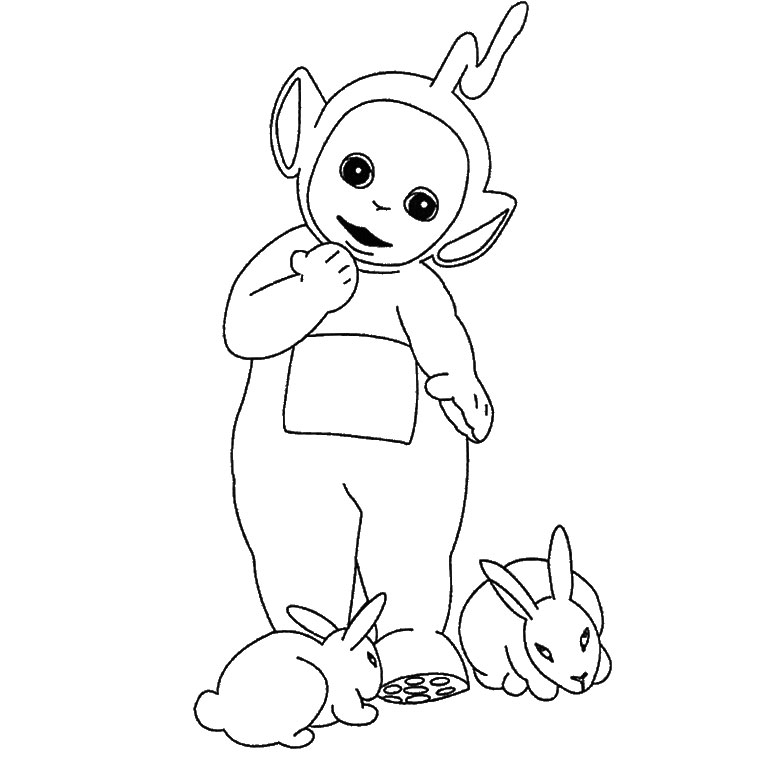 one piece coloring pages - coloriage laa laa teletubbies