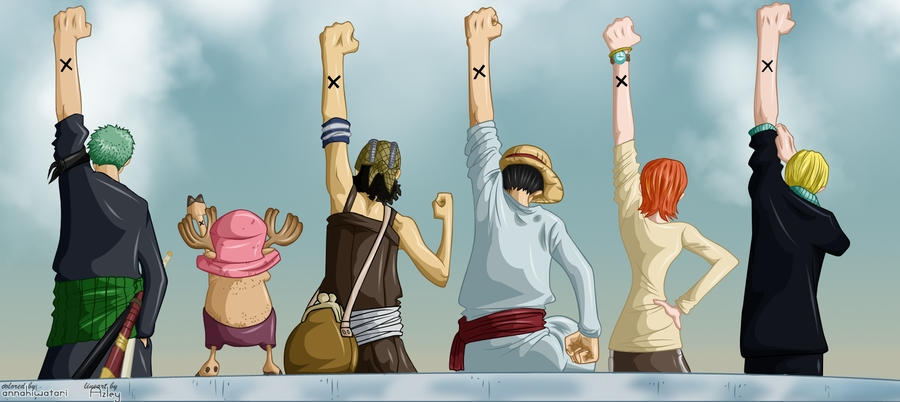 one piece coloring pages - Nakama coloring
