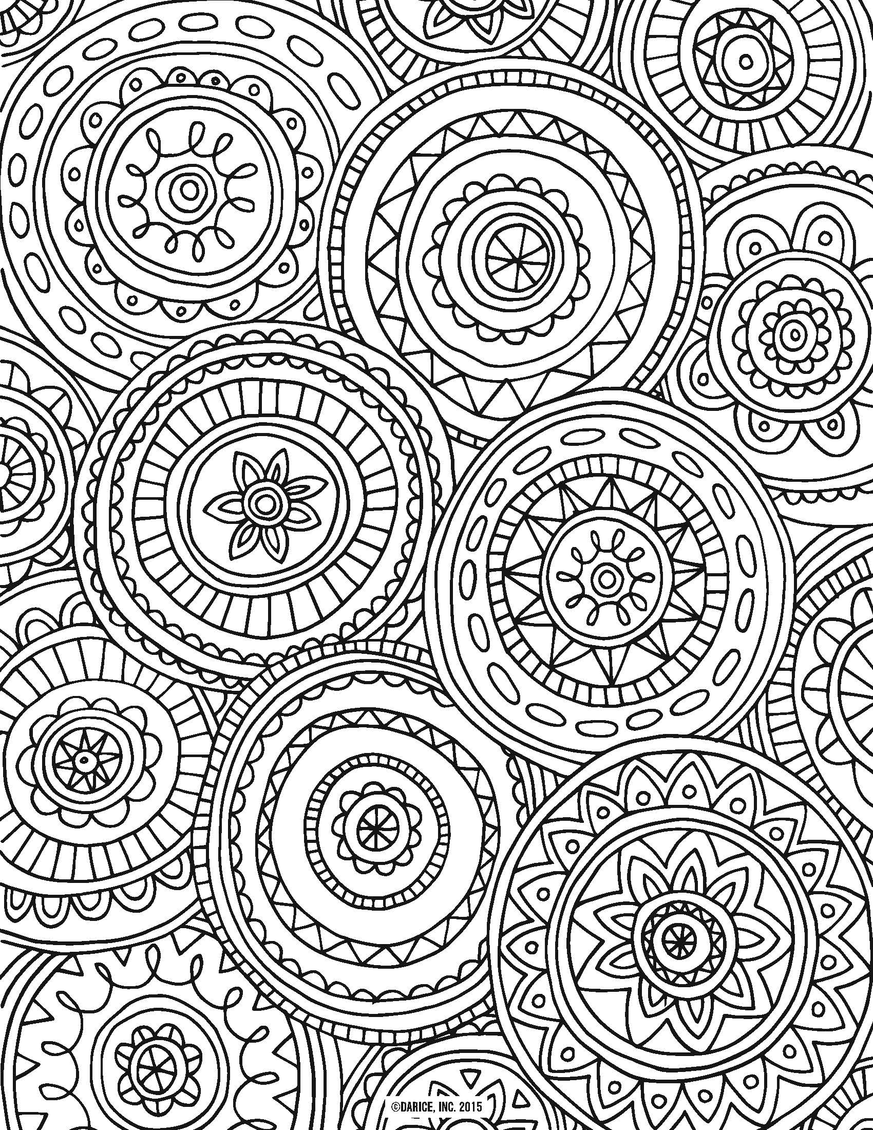online coloring pages for adults - adult coloring page