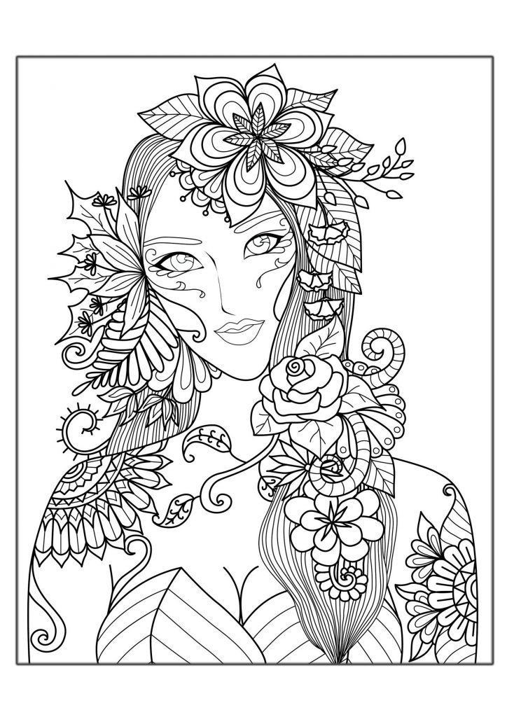 online coloring pages for adults - hard coloring pages adults