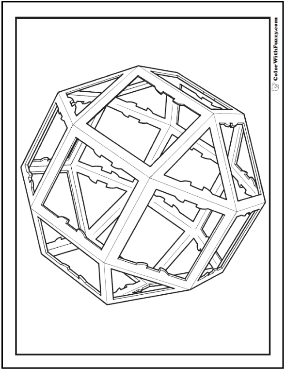 optical illusion coloring pages - geometric coloring pages