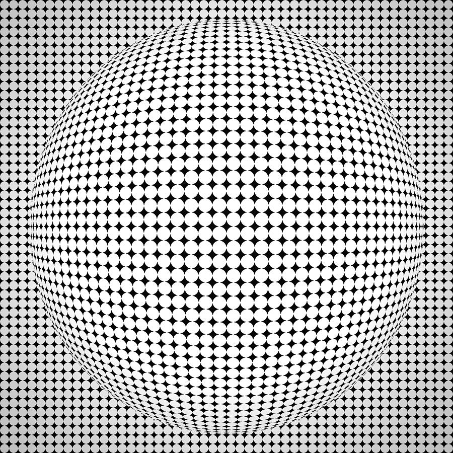 optical illusion coloring pages - optical illusion ball sumit mehndiratta