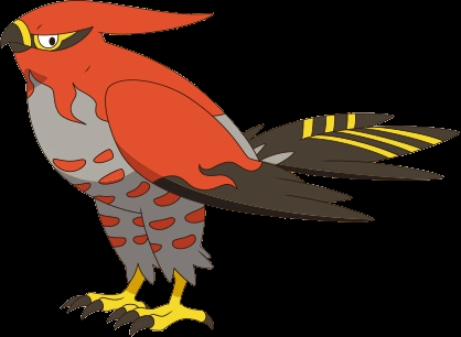 orange coloring page - File Talonflame XY2