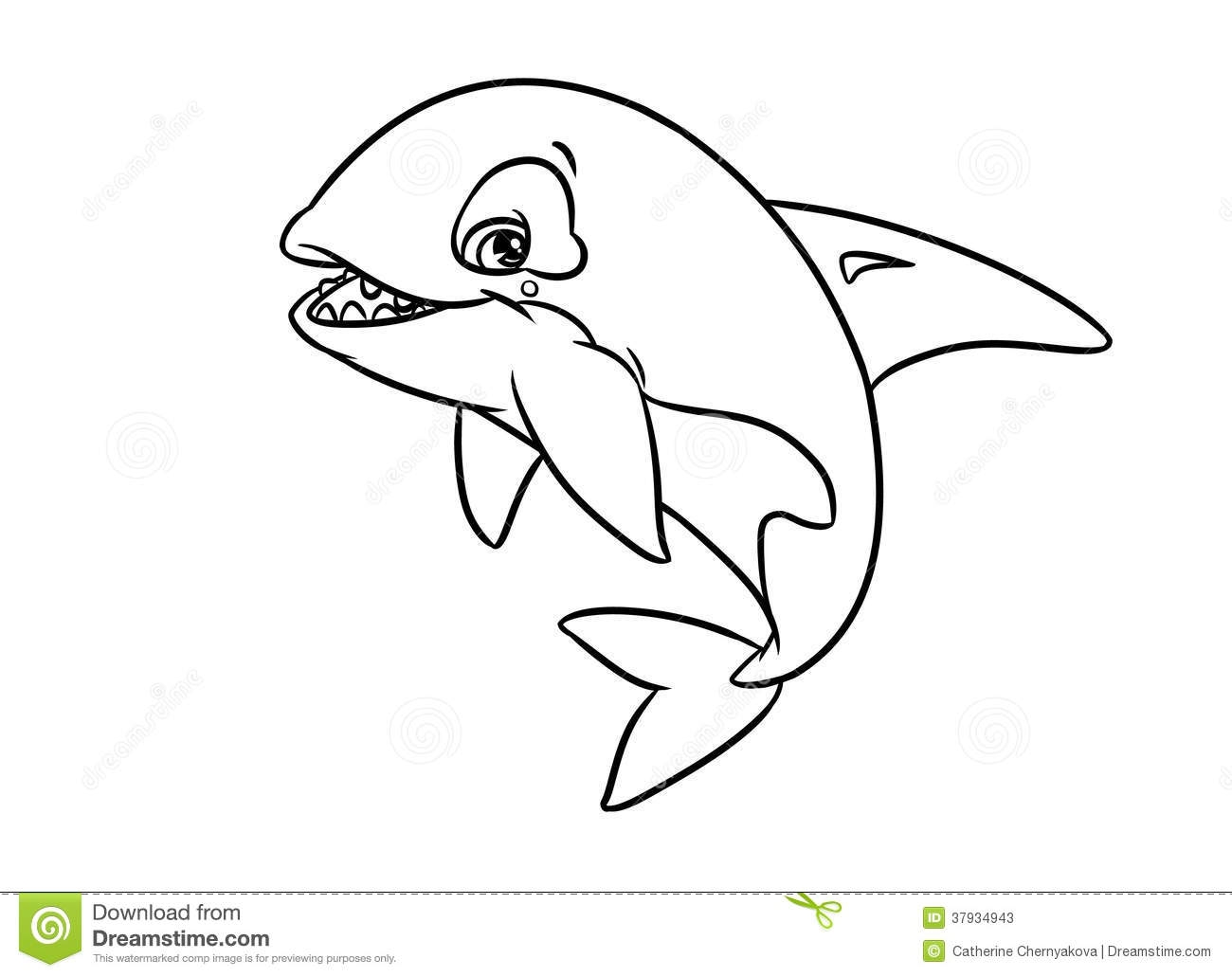 orca coloring pages - stock photos merry orca illustration coloring pages isolated image image