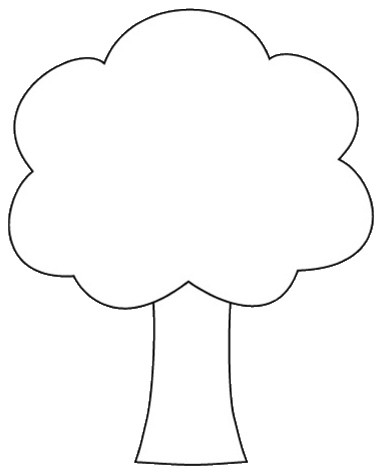 ornament coloring page - tree outline printable