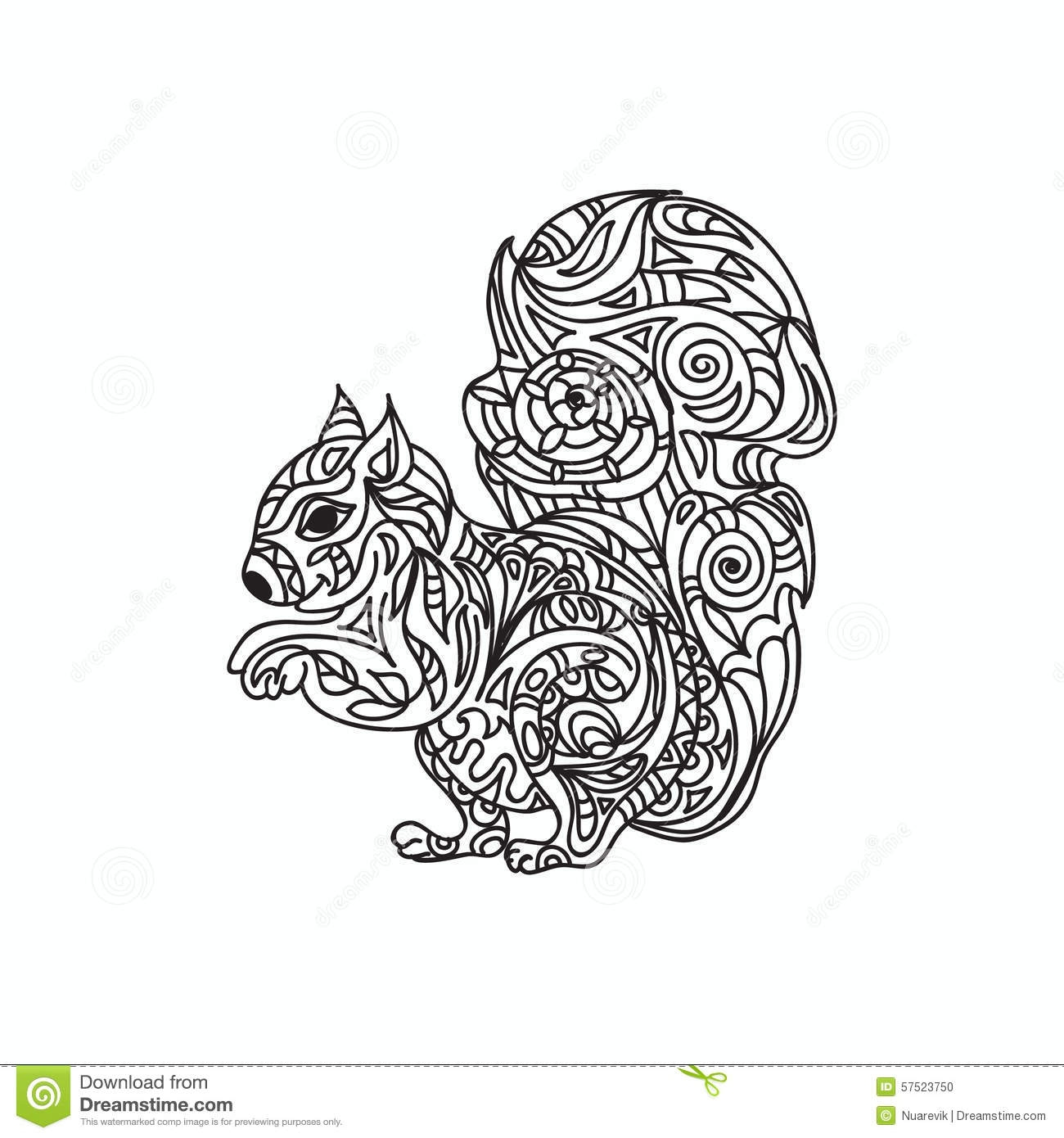 otter coloring pages - stock illustration squirrel coloring page isolated white image