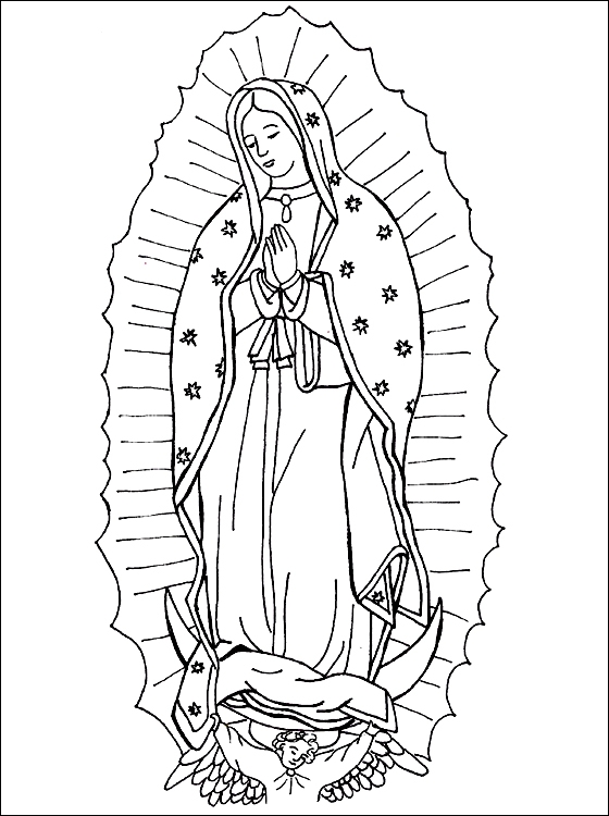 Our Lady Of Guadalupe Coloring Page - Our Lady Of Guadalupe Coloring Page