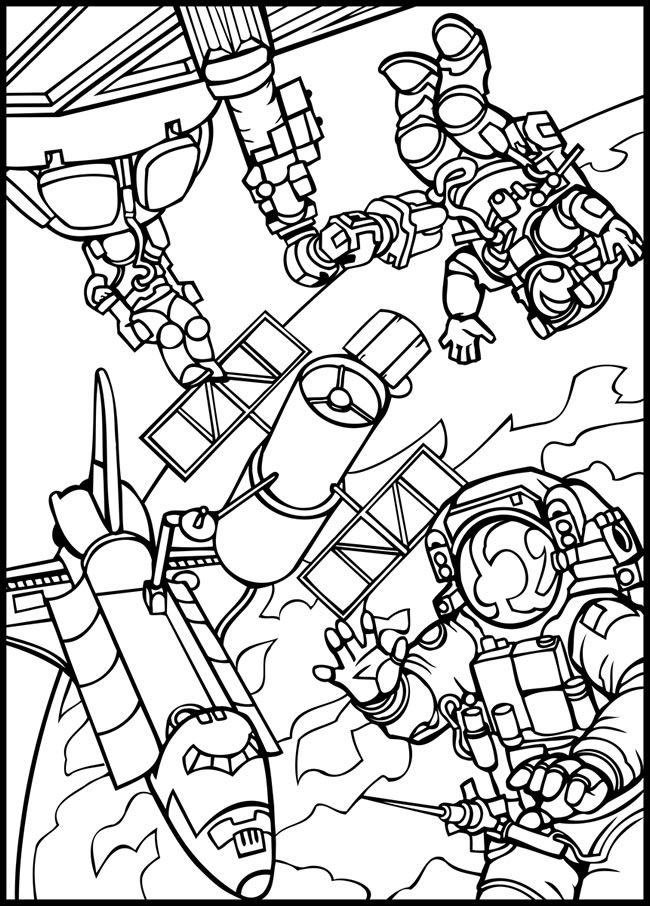 outer space coloring pages -