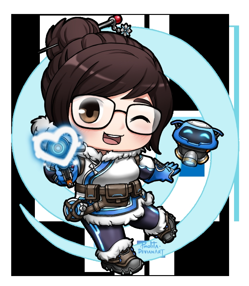 overwatch coloring pages - Mei