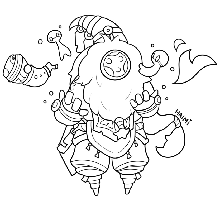 overwatch coloring pages - kolorowanki