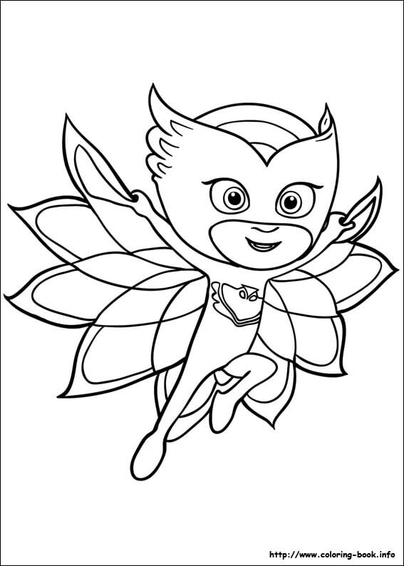 owlette coloring page - pj masks coloring pages