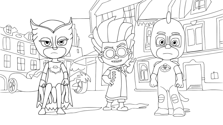 Owlette Coloring Page   Pj Masks Coloring Pages