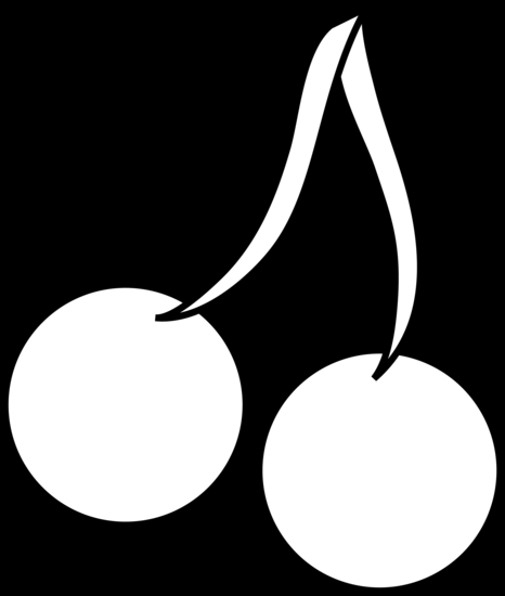 pacman coloring pages - cartoon cherries