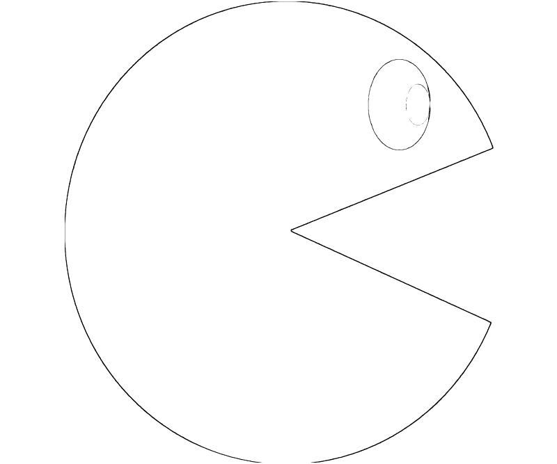Pacman Coloring Pages - Free Pacman for Kids Coloring Home