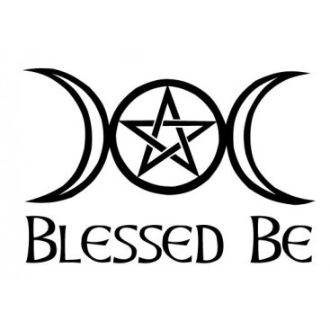 pagan coloring pages - 30 blessed be triple moon and pentagram car sticker