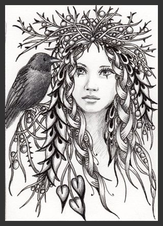 pagan coloring pages - adult colouring pages