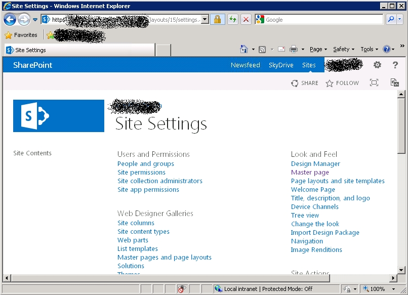pages background color - blue bar in the header disappearing on zoom in sharepoint 2013