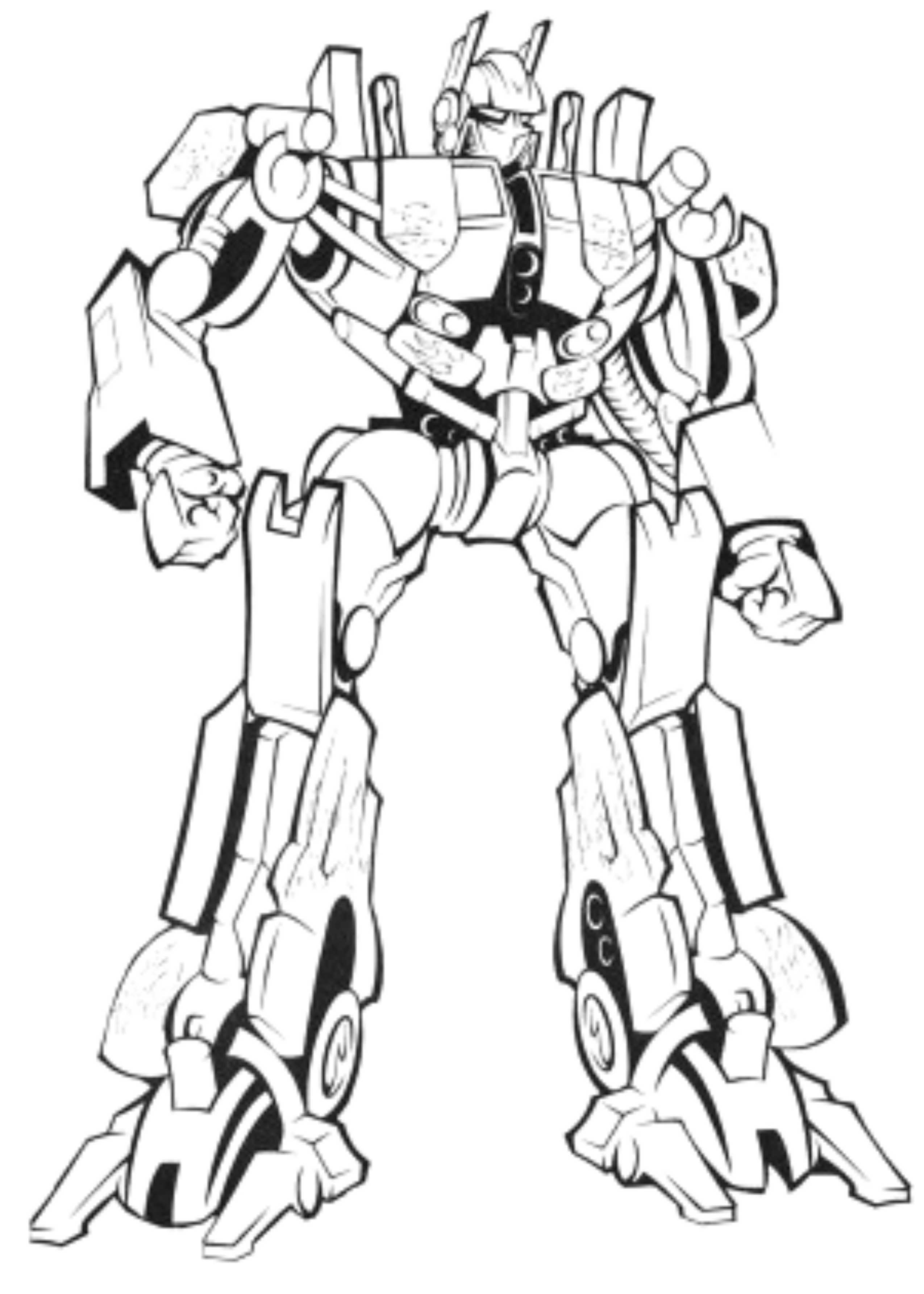 paint coloring pages - transformer optimus prime coloring pages