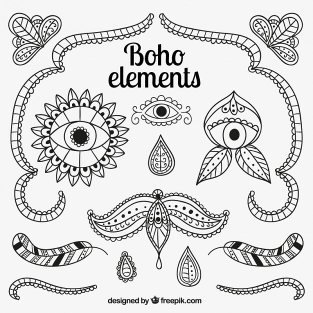 paisley coloring pages - elements vectoriels gratuits
