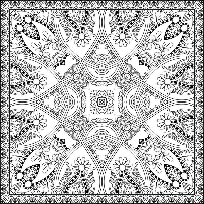 paisley coloring pages - zendoodle 9
