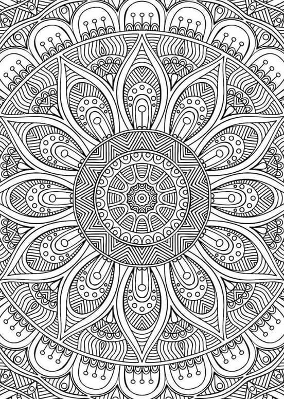paisley coloring pages - full page mandala coloring pictures