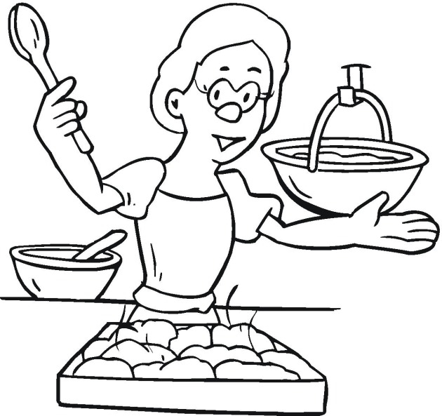 pajama coloring page - cooking4tml