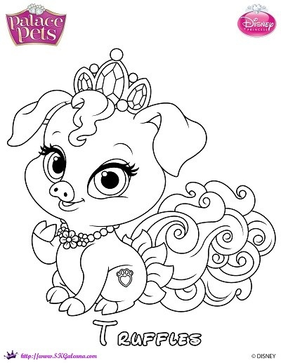 palace pets coloring pages - disney palace pets coloring pages