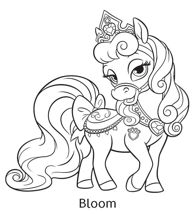 palace pets coloring pages - 5716