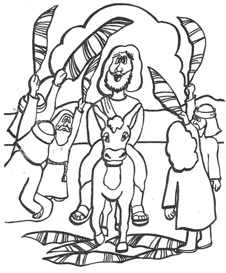 palm sunday coloring page - domenica palme index