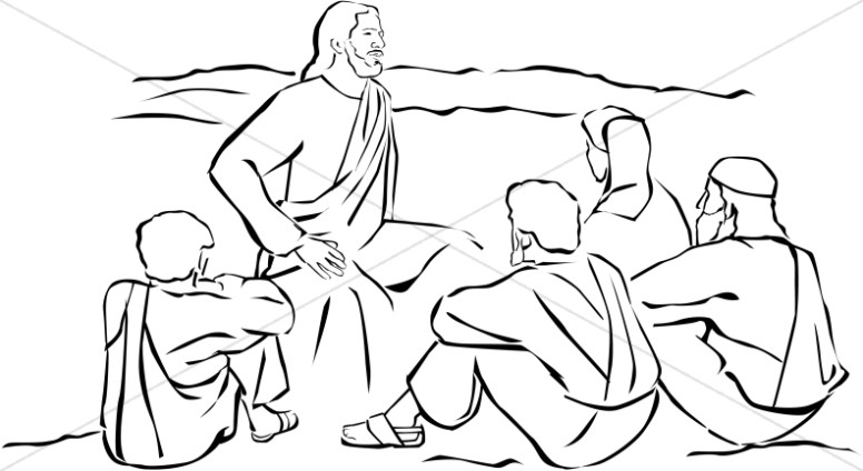 palm sunday coloring page - jesus clipart
