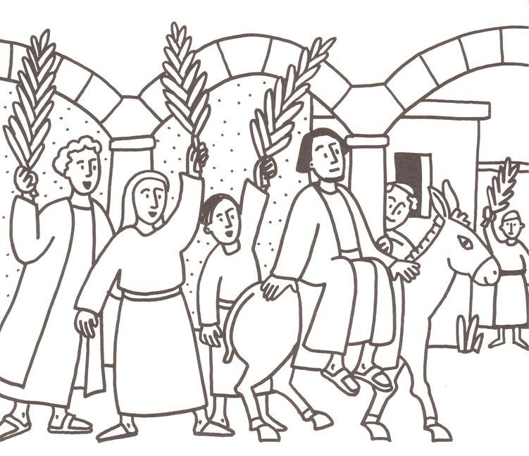 palm sunday coloring page - palmsonntag 16
