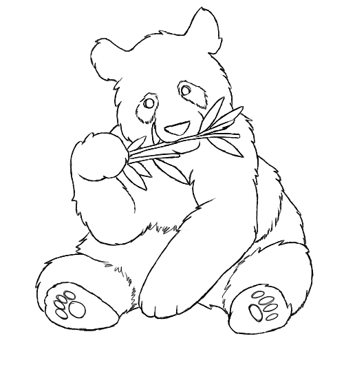 panda coloring pages - baby panda bears coloring pages tattoo