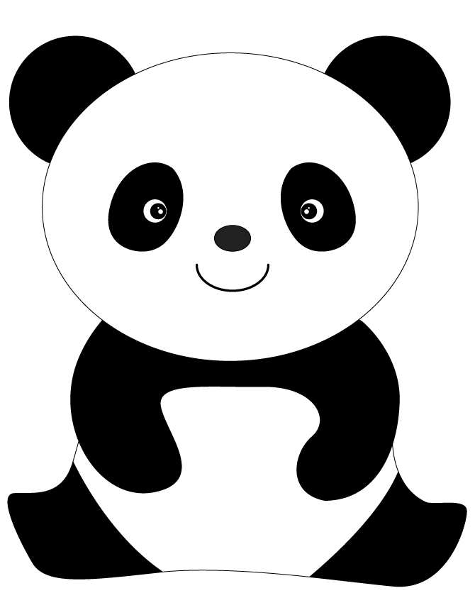 panda coloring pages - cute panda bear