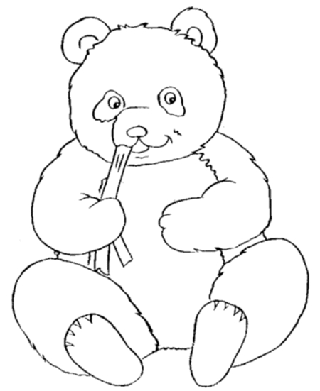 panda coloring pages - cute panda bear coloring pages for kids