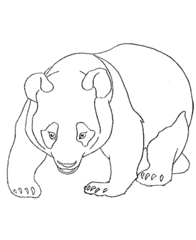 panda coloring pages - free panda printable animal coloring