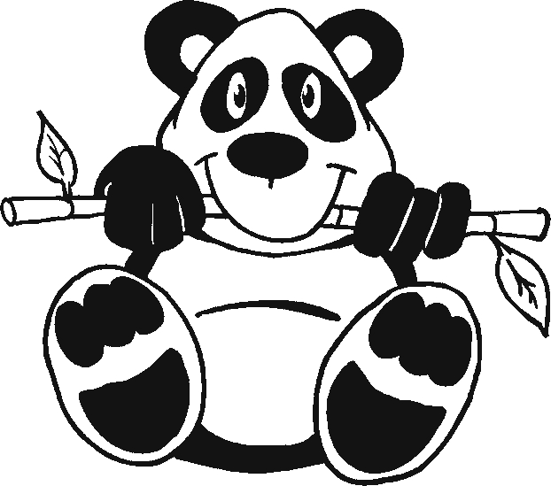 panda coloring pages - panda coloring pages