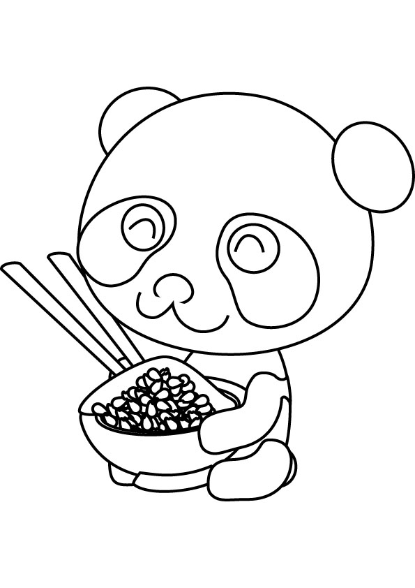 panda coloring pages - panda