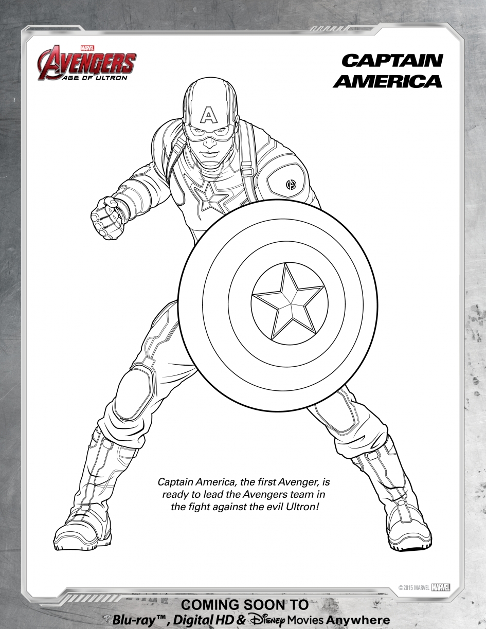 panther coloring pages - captain america coloring page