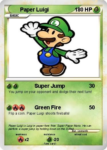 paper mario coloring pages - Pokemon Paper Luigi 27
