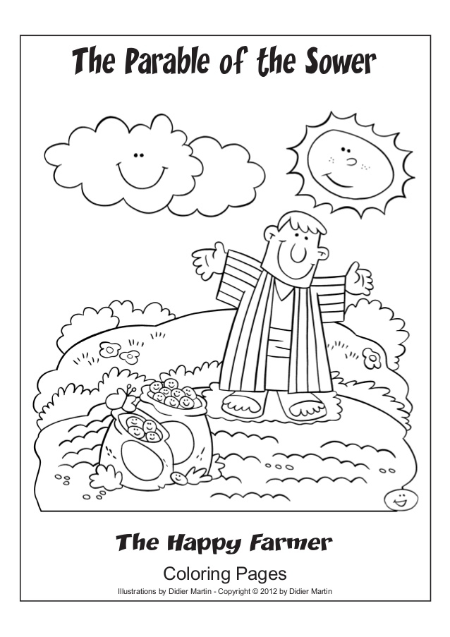 parable of the sower coloring page - parable of the sower coloring page
