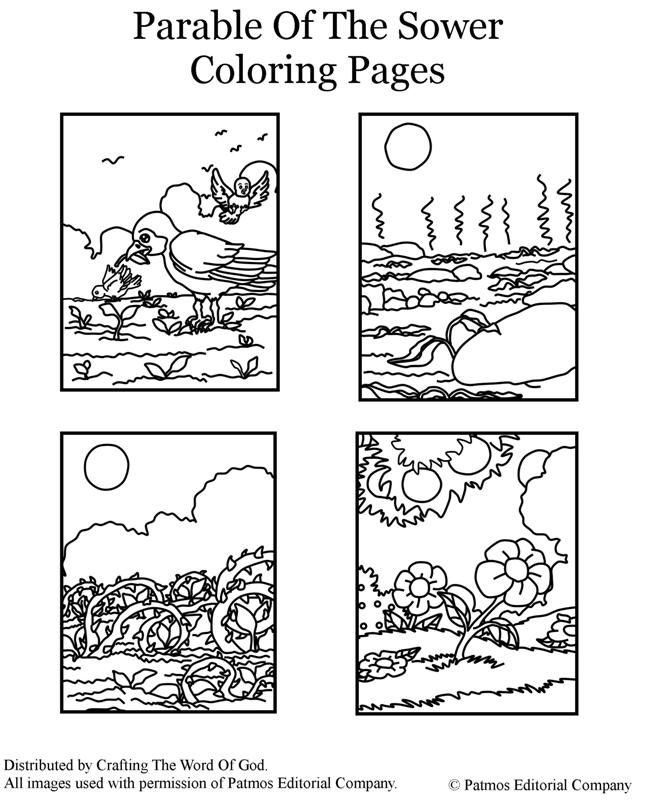 Parable Of the sower Coloring Page - Parable the sower Coloring Page Crafting the Word God