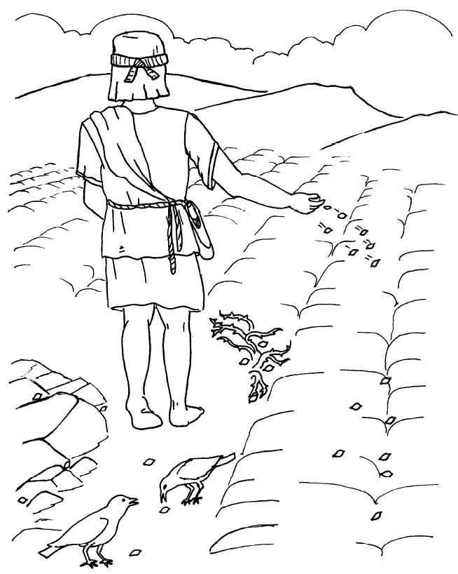 parable of the sower coloring page - parable of sower colorpg