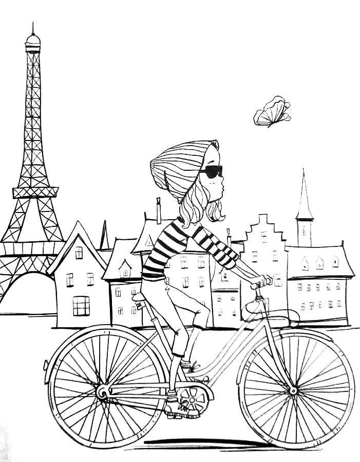 paris coloring pages - paris crafts