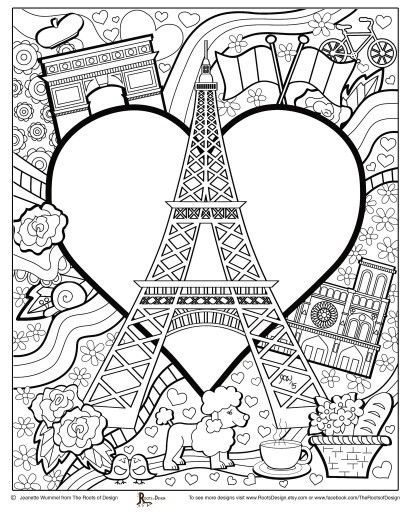 paris coloring pages -