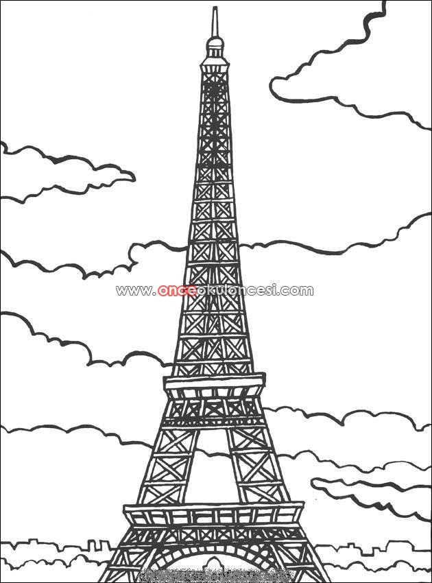 paris coloring pages - turizm ile ilgili boyamalar 3560