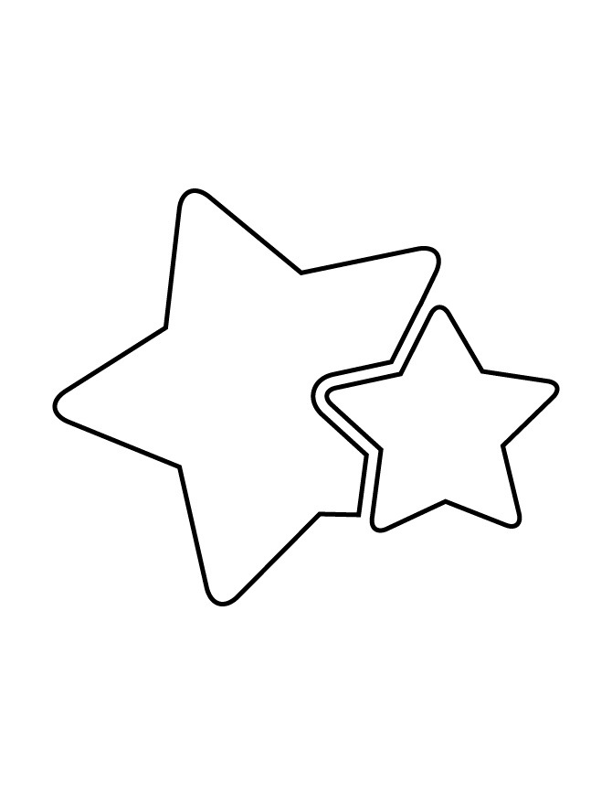 passover coloring pages - two stars stencil
