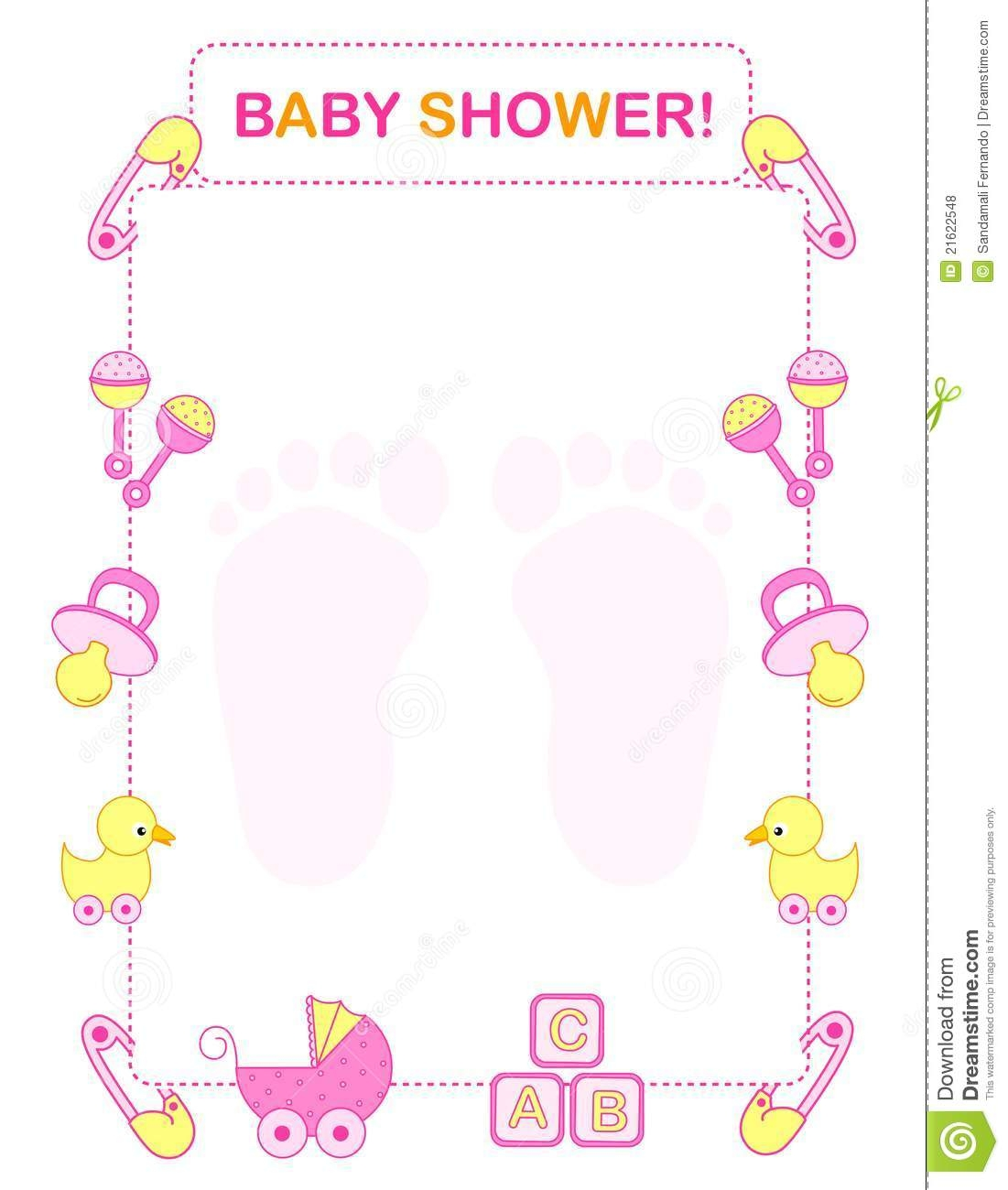 patrick coloring pages - baby shower border clip art