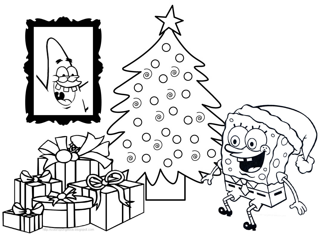 Patrick Coloring Pages - Spongebob and Patrick Christmas Coloring Pages – Happy