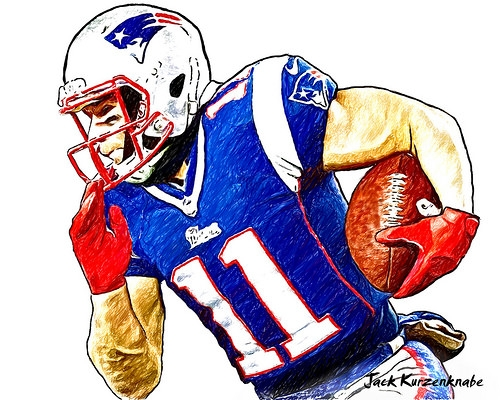 Patriots Coloring Pages - New England Patriots Julian Edelman