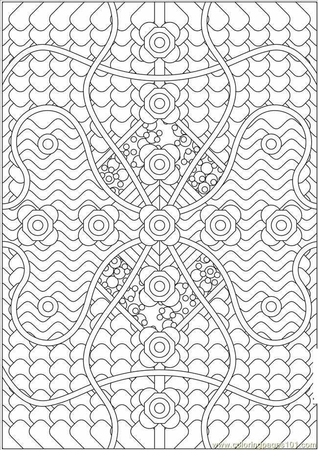 pattern coloring pages - pattern coloring pages
